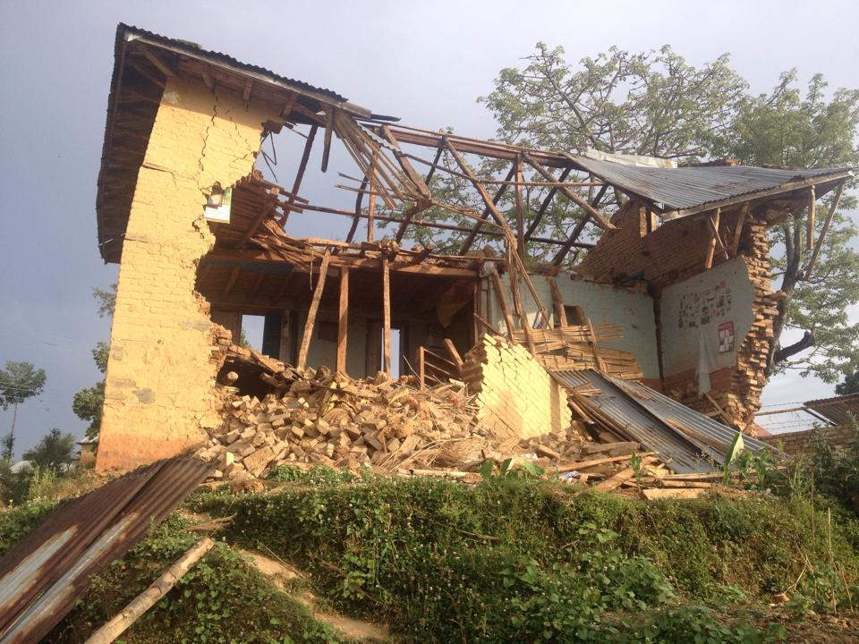 Nepal earthquake house destroyed